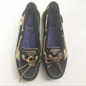 SPERRY Top Slider Angelfish Boat Shoes Sparkle